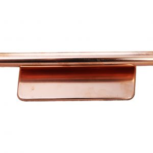 Copper end cap for round and square gutters